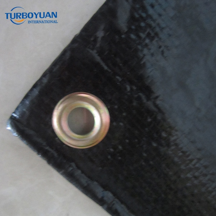 uv resistant high tensile strength black poly fabric tarpaulin rubber canvas tarp for truck