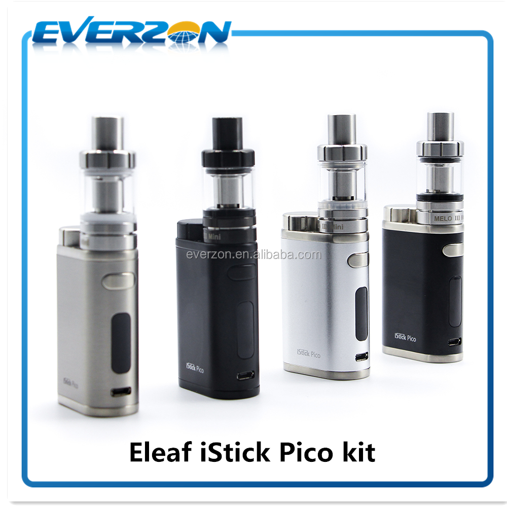 Authentic Eleaf iStick Pico 75W Mod VW/Bypass/TC-Ni/TC-Ti/TC-SS/TCR Mode 5 Colors with Melo 3 Mini Tank