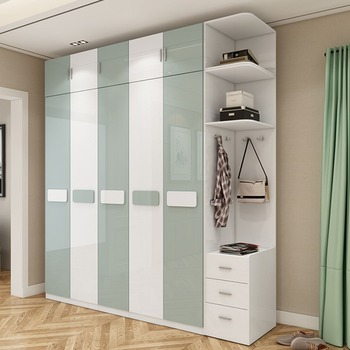 Parfait Simple Moderne Chambre Salon Ouvert Armoire