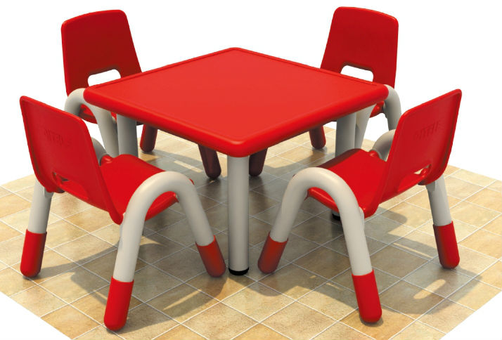 Wholesale Four Seats Kids Table, Kids Writing Table, Kids Learning Table  QX 193D