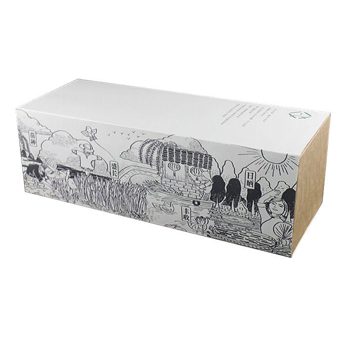 Nouvelle boîte d'emballage alimentaire pour le gâteau et la tarte de luxe d'emballage de boîte de biscuits