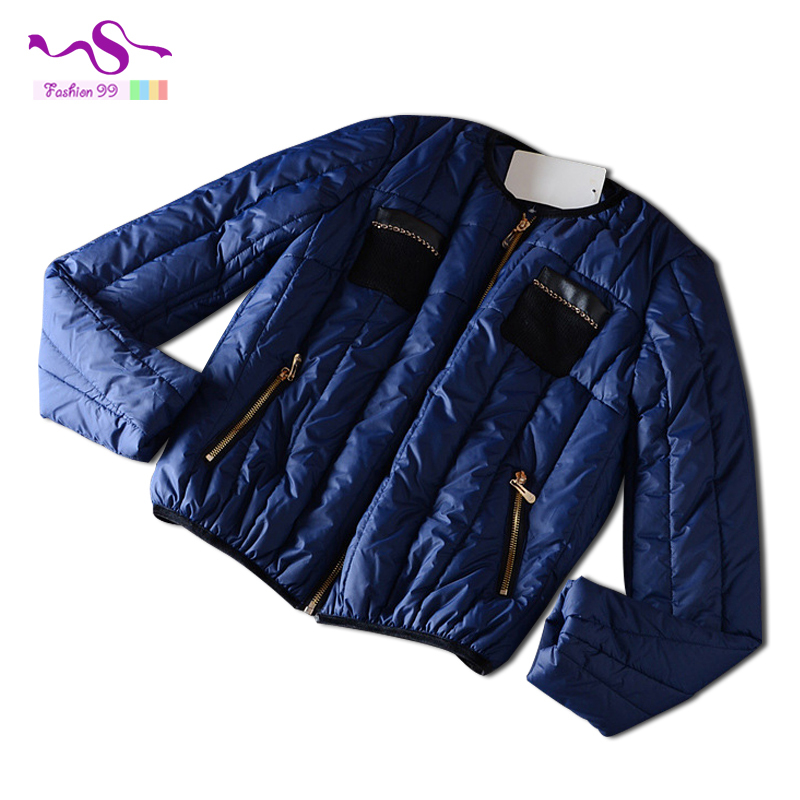 2015 Autumn and winter slim light thin knit pocket stitching women cotton jacket plus size female's coat YT 148