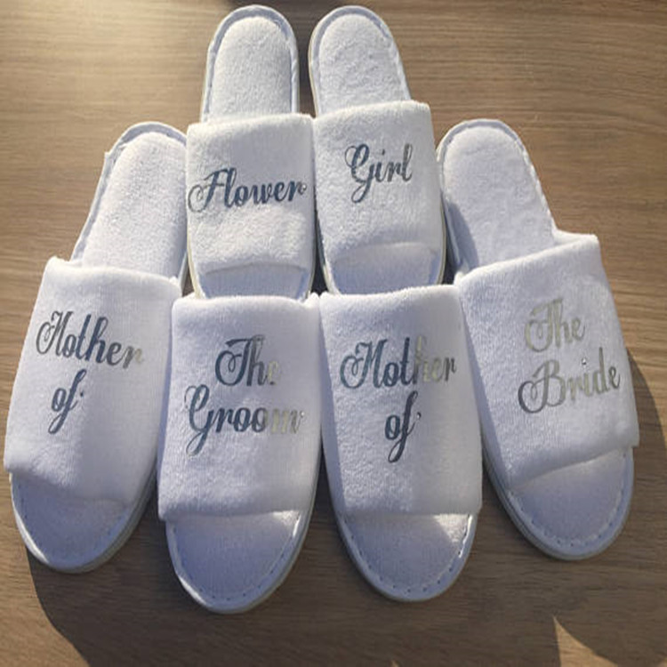 8f1f09ff4 Personalised title names bride slipper bridesmaid maid of honor hen party  slippers spa day Bachelorette party favors gifts