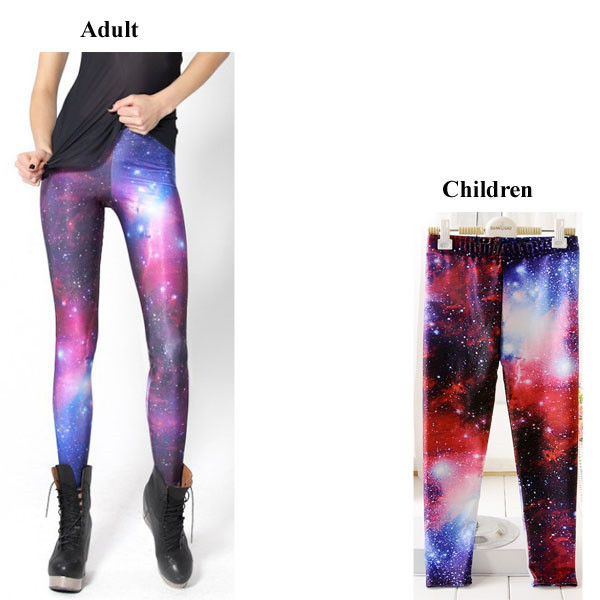 4d8ba35451941e Parent-child outfit galaxy printing Leggings Kids + Adult Pants Fitness  leggings for girls free