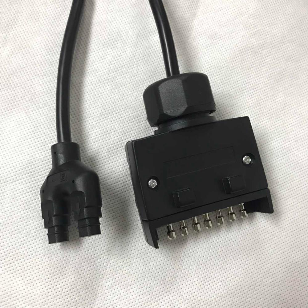 Australian 7 Pin Round Socket Or 7 Pin Flat Socket Cable