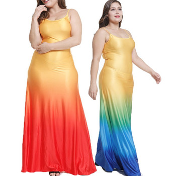 2019 Newest Stylish Fashion 4 Colors Plus Size 4xl 5xl 3xl Sleeveless  Casual Women Rainbow Beach Maxi Vest Dress - Buy Rainbow Maxi Dress,New  Design ...