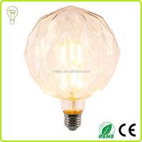 8W LED Filament Globe Light Bulb Daylight Neutral White E27 Base 80W Equivalent