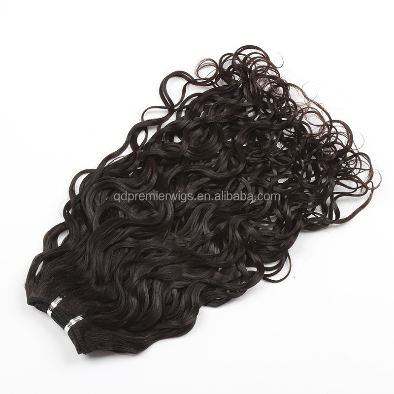 "12"" top quality Brazilian Virgin hair natural curl machine made wefts"
