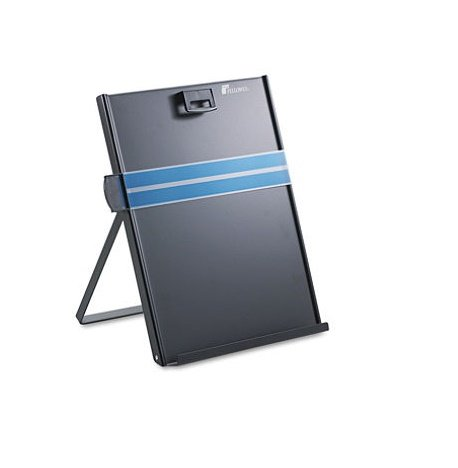 """Fellowes Mfg. Co. Products - Metal Copyholder, Letter, 10-5/8""""x8-3/8""""x11-3/8"""", Black - Sold as 1 EA - Easel-style copyholder adjusts for appropriate viewing angle. Removable magnetic paper holder keeps copy securely in place on the metal stand. Features removable line guide. Folds flat for easy"""