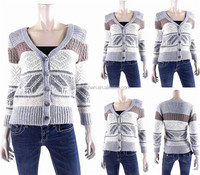 2016 New fashion women clothing crochet cardigan ladies casual warm winter crochet sweater