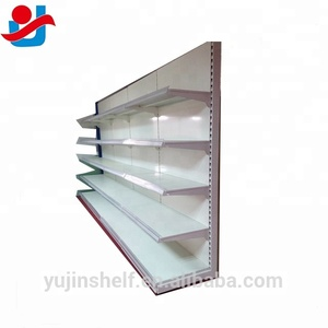 Heavy Duty Style Steel Supermarket Furniture /Single Sided Good Pricing Gondola Supermarket Shelving