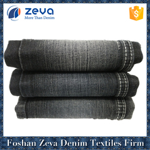 China wholesale 100% cotton shrink-resistant woven denim fabric with slub for jeans