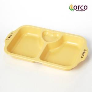 [Eco Infant tableware] Divided Snack Plate
