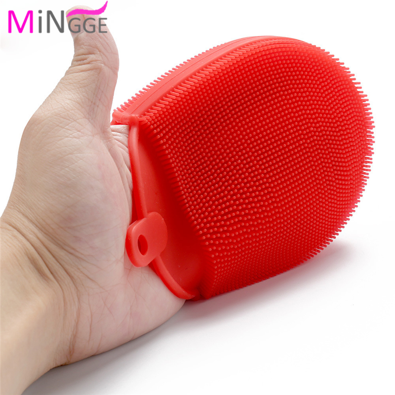 ebay hot selling Silicone AntiBacterial Washing Cleaning Dish Soft rubber silicone Sponge Brush