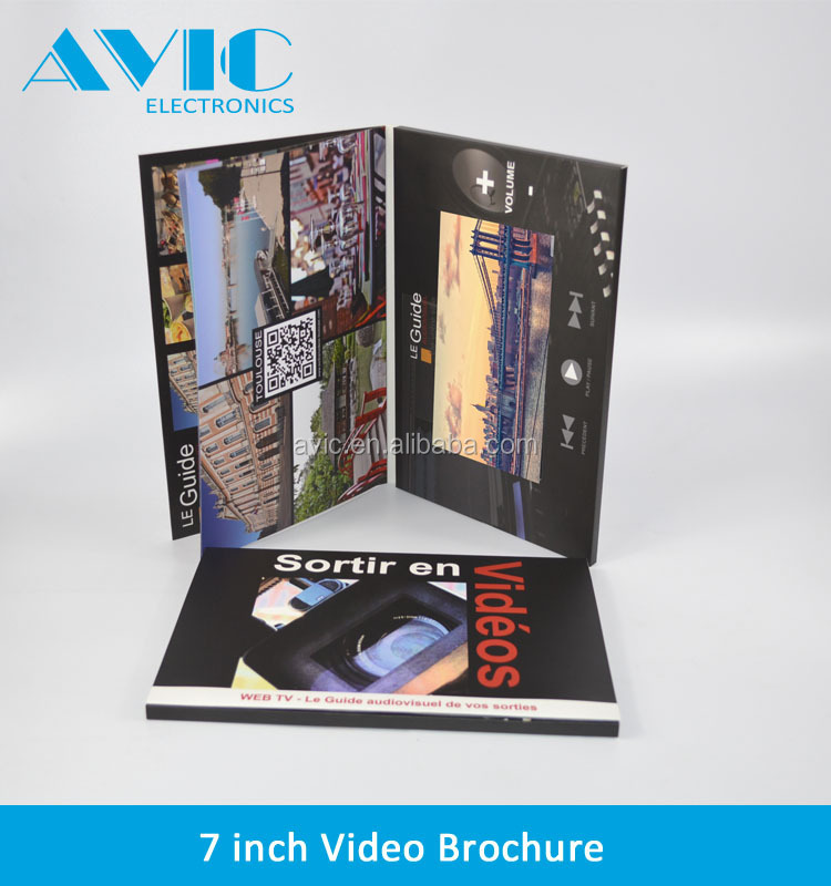 7 Inch A4 Size Lcd Customized Advertising Business Card Video ...
