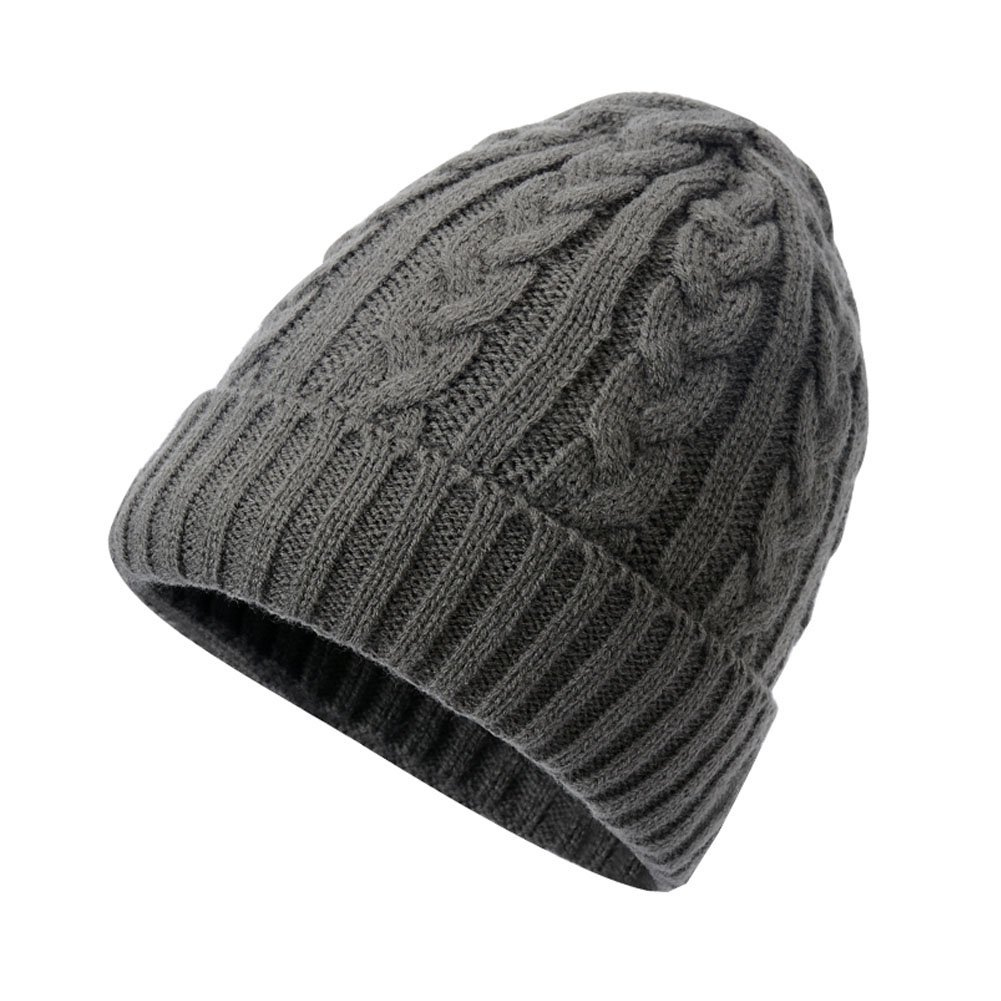 1eeb0d2d1d498 Get Quotations · DRAGON SONIC Skull Beanie Warm Knitting Hat Plush Lining