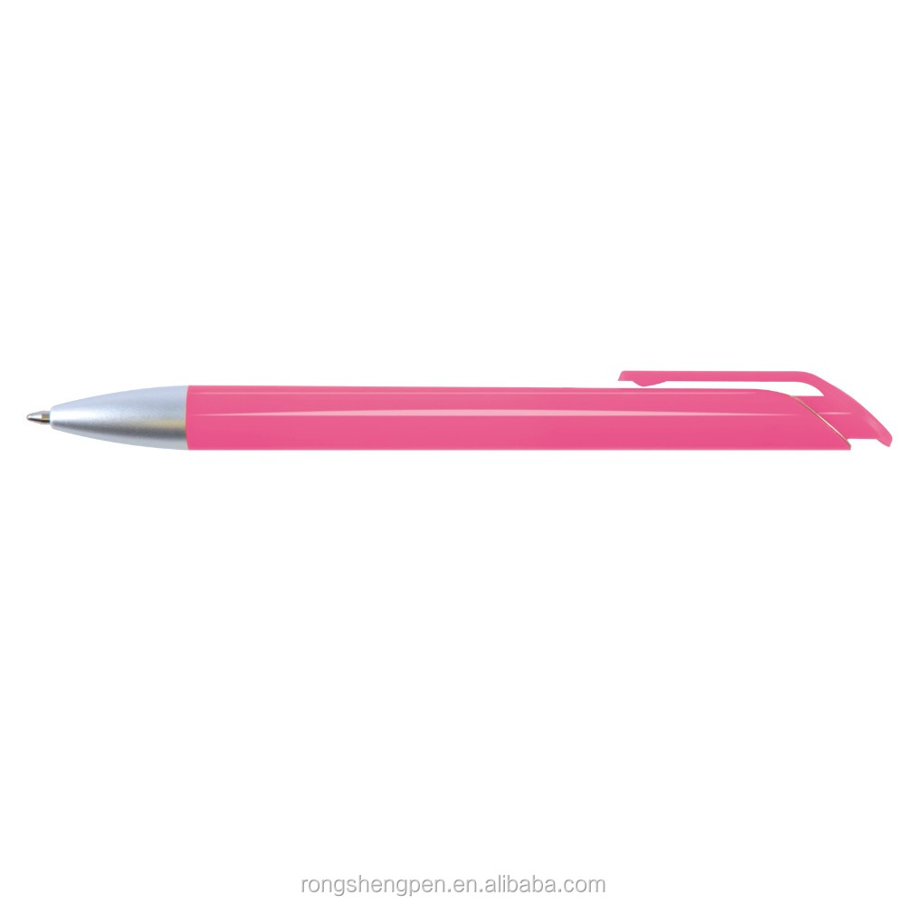 Solid Pink Best selling in Europe plastic ballpoint pen manufacturer