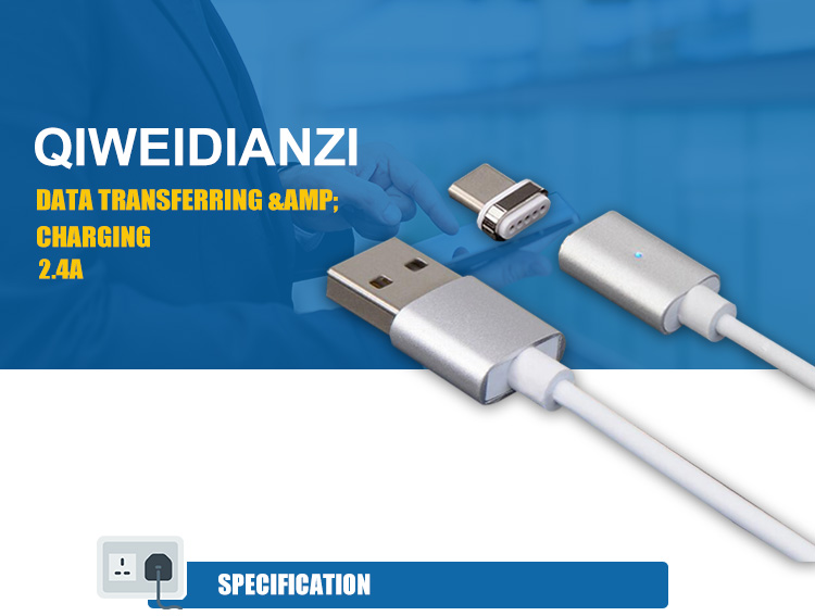 Hoge Kwaliteit Magnetische Zuig USB Charger Cable Line Android Oplaadkabel