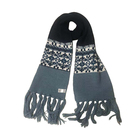 Winter Acrylic Jacquard Scarf With Tassel