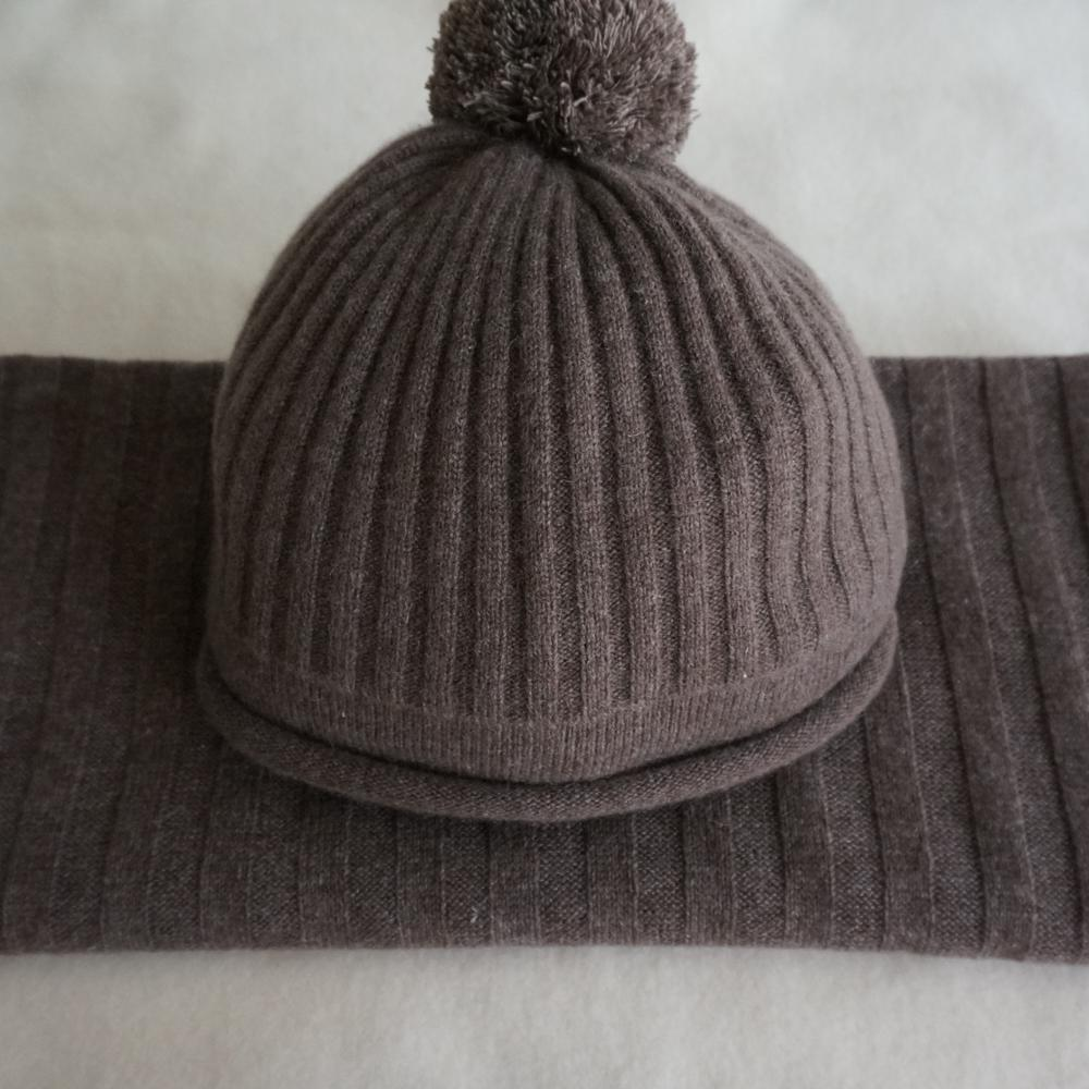 Wholesale Super Merino Wool Custom Patch Winter Hats And Scarf Sets ... 84aeed5cb