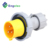 110v~130v IP44 16A 2P+E yellow color nylon material YHT-N0132-4 new model Industrial plug