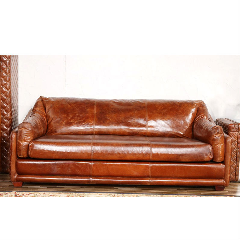 Handmade Riveted Barrington Vintage Leather Sofa   Buy Barrington Vintage  Leather Sofa,Riveted Vintage Leather Sofa,Handmade Riveted Leather Sofa  Product On ...