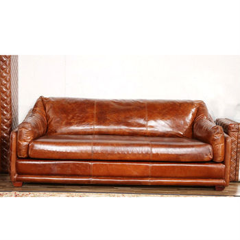 Incroyable Handmade Riveted Barrington Vintage Leather Sofa