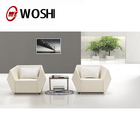 Modern office reception sofa, black artistic genuine leather sofa set, sectional sofa S188