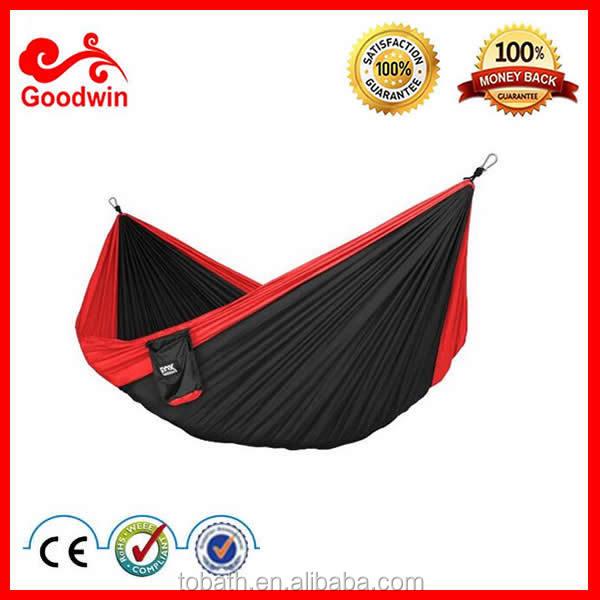 300*200cm Rot Und Schwarz Einzelne Person Fallschirm Hängematte