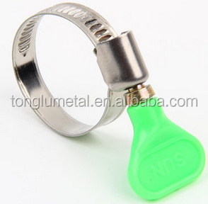 Tonglu Metal worm drive german types of Turn Key Hose Clamp with Plastic Handle