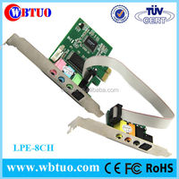 8ch CMI8768 PCI express Sound card