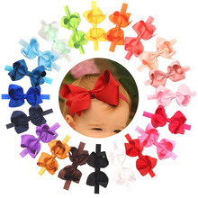 Kids Knitted Polyester Infants Baby Bowknot Big Bow Headband