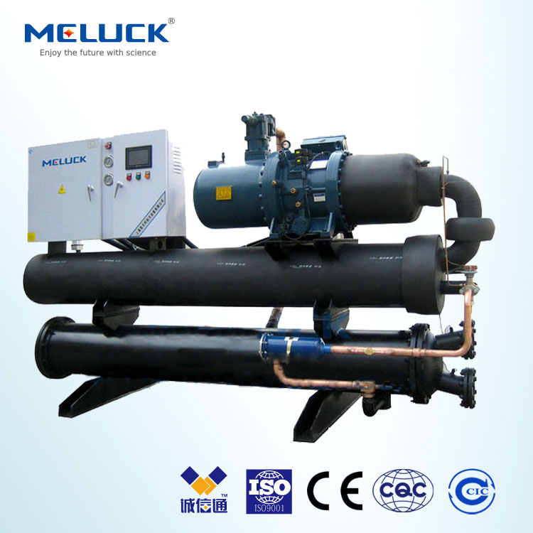 R404A Meluck BLGS series cold room condensing unit at medium temperature Bitzer compressor for cooling and freezing fish/meat