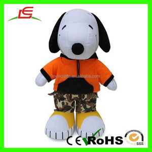 Soft Animal Snoopy Wearing T-shirt Pants Plush Toy Clothing
