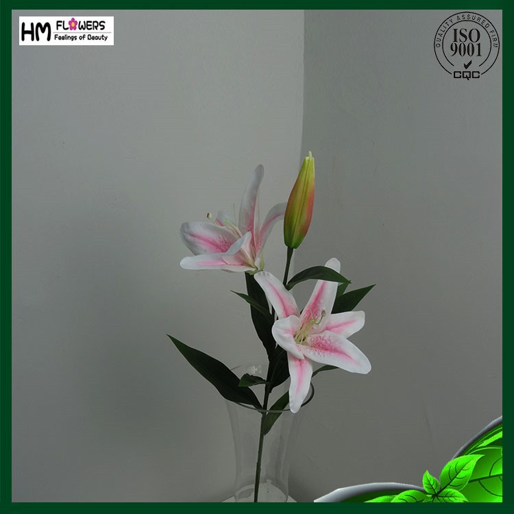 Plastic Artificial Flower Real Touch Tiger Lily With Long Stem ...