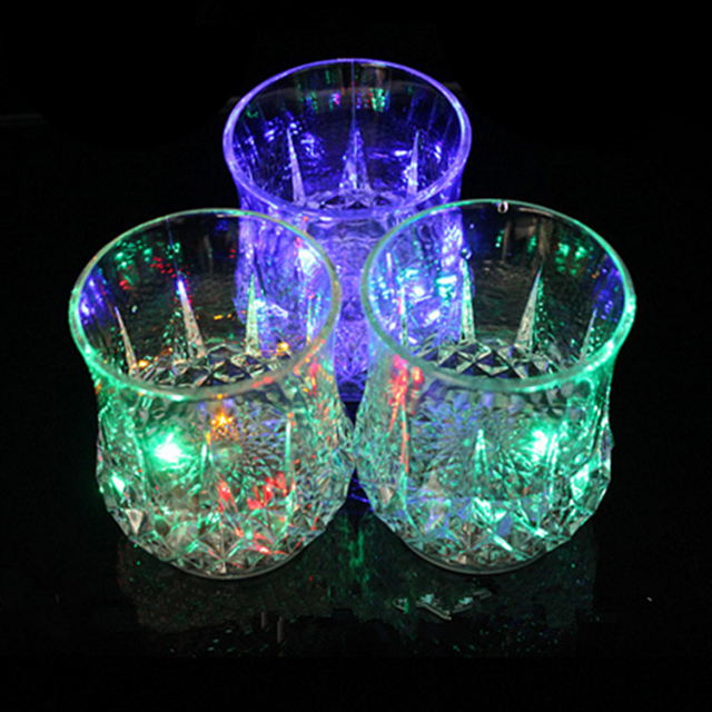 Shiny cup cold light colorful glowing pineapple LED bar KTV wine glass cup