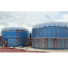 260m3 assembly membrane bio gas plant biodigester