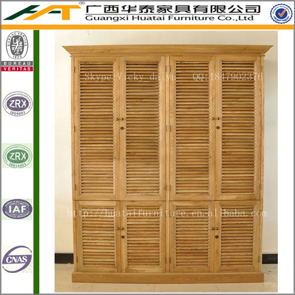 Latest design shutter cabinet bedroom furniture double ...