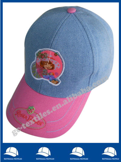 China gold supplier six panel children cartoon baseball cap