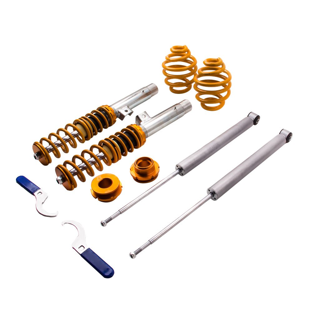 maXpeedingrods Suspensions Coilovers Adjustable Lowering Kit for 98-06 BMW E46 3-Series Struts