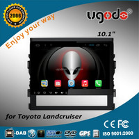 ugode 10.1 inch large screen android 4.4 car dvd 2 din for toyota landcruiser