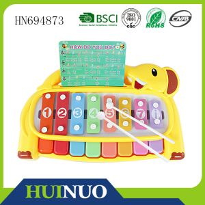 Cartoon lovely elephant musical xylophone bars HN694873