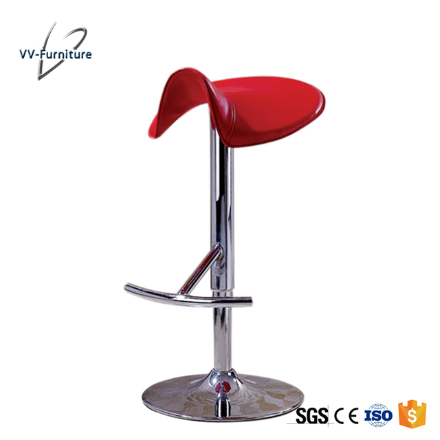 2018 home new design red color plastic saddle bar stools one leg