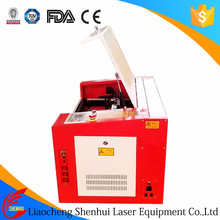 Small laser engraving machine for making rubber stamp