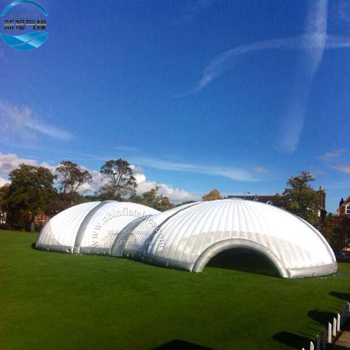 Outdoor White Party / Wedding / Events Inflatable Cube Tent, Inflatable Dome Tent For Rental