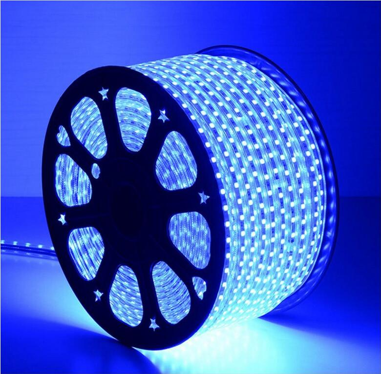 High quality high voltage SMD5050 add to anti-uv no yellow outdoor waterproof 110v led strip light