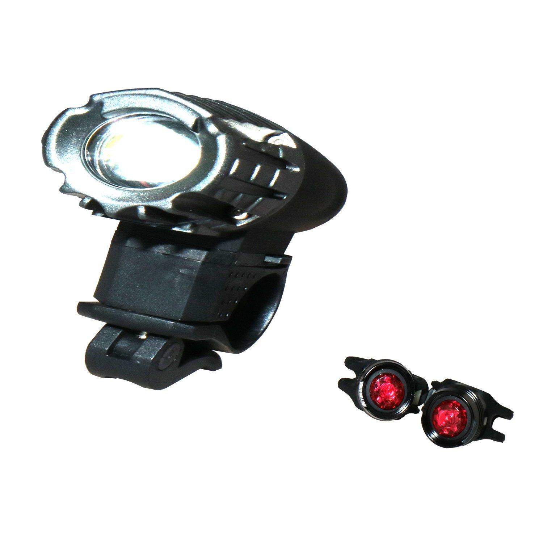 Faylapa Bike Light Set - Bright 300 Lumen Bicycle Headlight + 100 Lumen Taillight for Mountain Bike, Road Bike