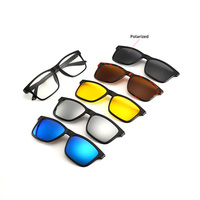 2202A Superhot Eyewear Magnet Optical Frames with 5 Sunglass Clips Magnetic Clip on Glasses