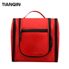 Popular Travel Accessories Red Nylon Toiletry Bag for Personal Items
