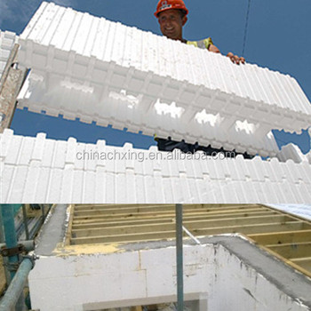 Modern structural icf foam blocks building construction for Foam block construction